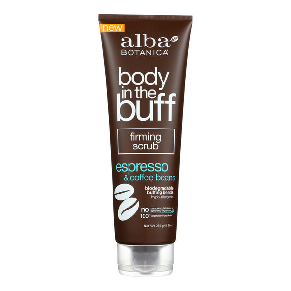 Alba Botanica - Body In The Buff Scrub - Firming Espresso and Coffee Beans - 9 oz.