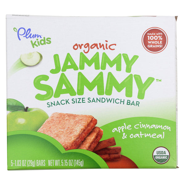 Plum Kids Jammy Sammy Snacks - Apple Cinnamon and Oatmeal - Case of 6 - 1.03 oz.