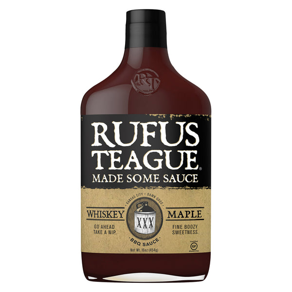 Rufus Teague BBQ Sauce - Whiskey Maple - Case of 6 - 16 oz.
