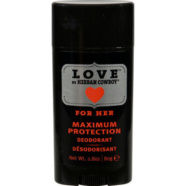 Herban Cowboy Deodorant - Love Maximum Protection - 2.8 oz