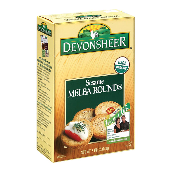 Devonsheer - Organic Sesame Melba Rounds - Case of 12 - 5.25 oz.