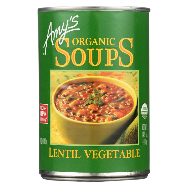 Amy's - Organic Lentil Vegetable Soup - Case of 12 - 14.5 oz