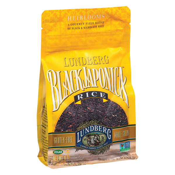 Lundberg Family Farms Eco - Farmed Gourmet Black Japonica Field Blend Rice - Case of 6 - 1 lb.