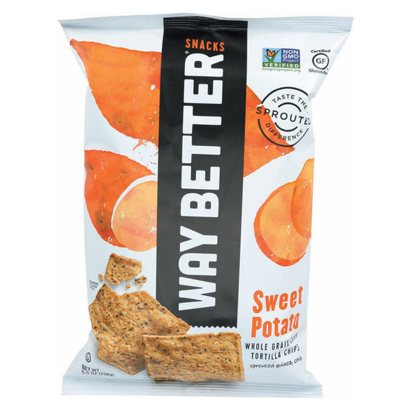 Way Better Snacks Tortilla Chips - Sweet Potato - Case of 12 - 5.5 oz.