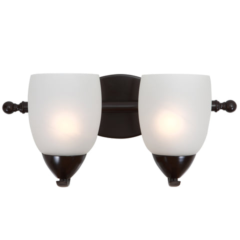 1261-2V-ORB Oil Rubbed Bronze  Steel, Glass Two Lights Vanity Mirror Lake Collection