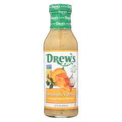 Drews All Natural Romano Caesar Dressing and Quick Marinade - Case of 6 - 12 FL oz.