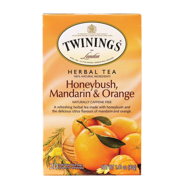 Twining's Tea Herbal Tea - Honeybush Mandarin and Orange - Case of 6 - 20 Bags