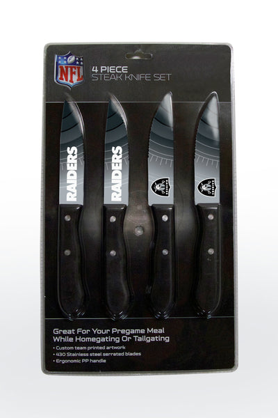 Las Vegas Raiders Knife Set - Steak - 4 Pack - The Sports Vault