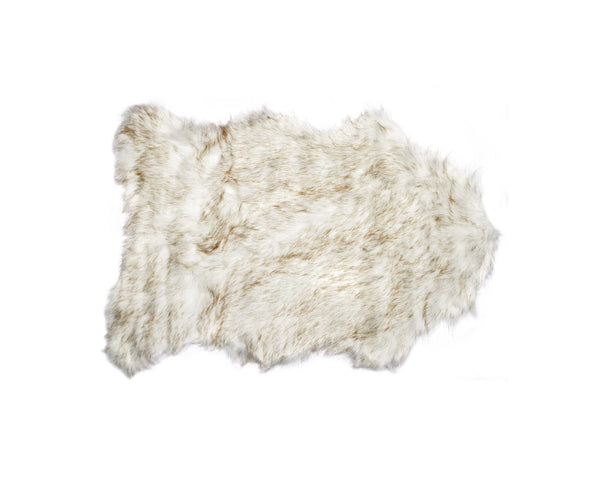 Home Roots - 24'' x 36'' x 1.5'' Gradient Tan Faux Sheepskin - Area Rug 294248