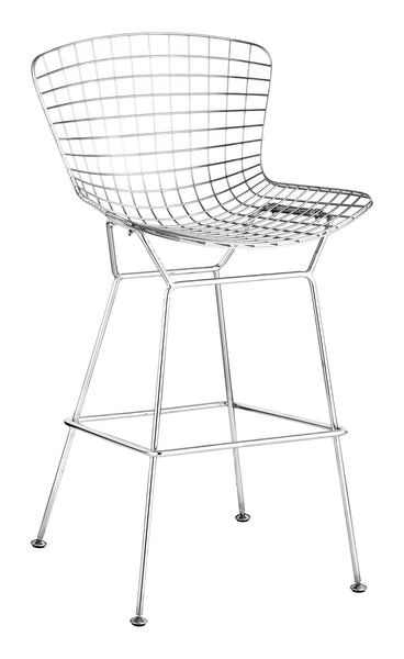 Home Roots - 21.3'' x 23'' x 40'' Chrome, Chromed Steel, Bar Chair - Set of 2 248948