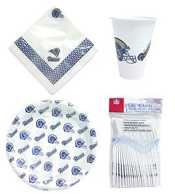 St. Louis Rams Dinnerware Set Plastic 96 Piece - Duck House