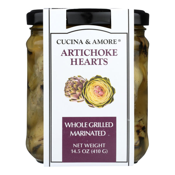 Cucina & Amore - Artichokes Whole Marinated - Case of 6 - 14.5 OZ