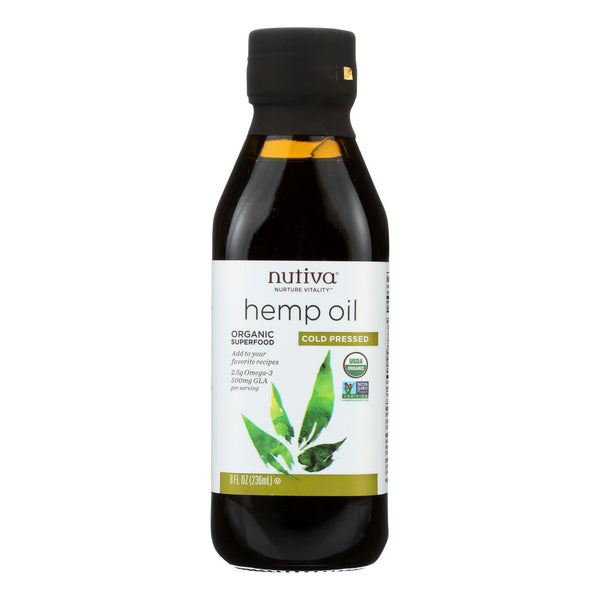 Nutiva Hemp Oil, Cold-Pressed  - 1 Each - 8 FZ