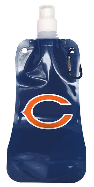Chicago Bears 16 ounce Foldable Water Bottle - BOELTER