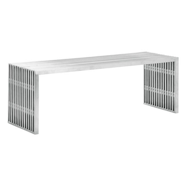 Home Roots - 46.5x15.3x16.5 Stainless Steel Bench 248655