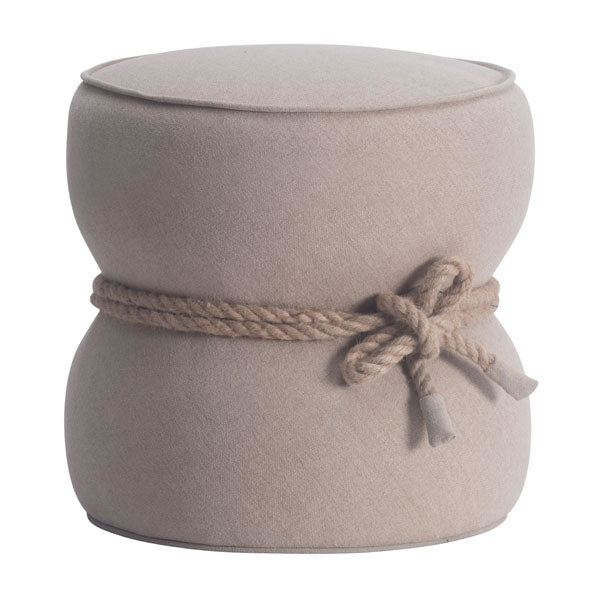 Home Roots - 18.9'' X 18.9'' X 18.5'' Beige Polyblend Ottoman 248600