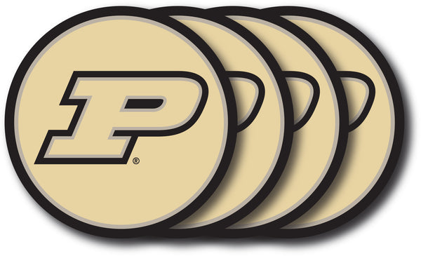 Purdue Boilermakers Coaster Set - 4 Pack - Duck House