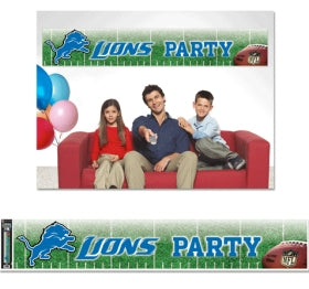 Detroit Lions Banner 12x65 Party Style - Wincraft