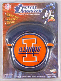 Illinois Fighting Illini Jersey Coaster Set - Sportfx International