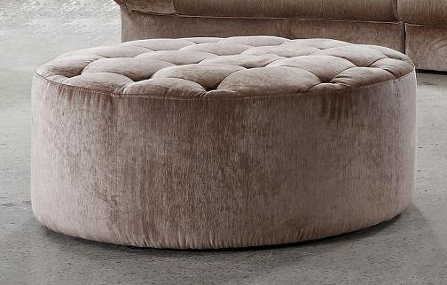 Home Roots - 16.5'' MDF and Velour Ottoman Tufted with Artificial Crystals 282513