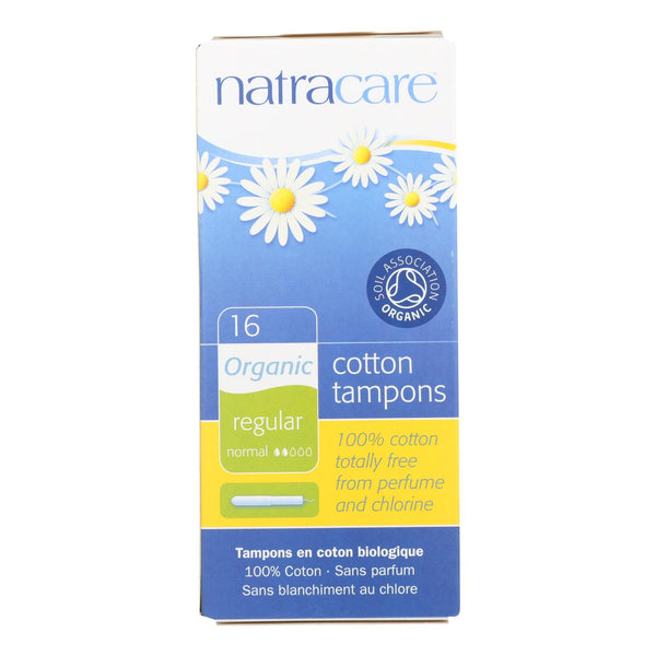 Natracare Regular Organic Cotton Tampons  - Case of 12 - 16 CT