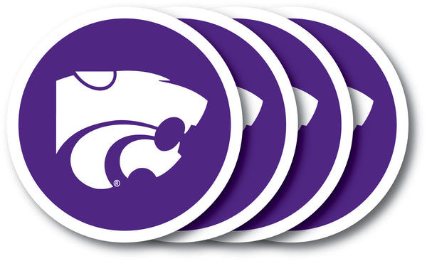Kansas State Wildcats Coaster Set - 4 Pack - Special Order - Duck House