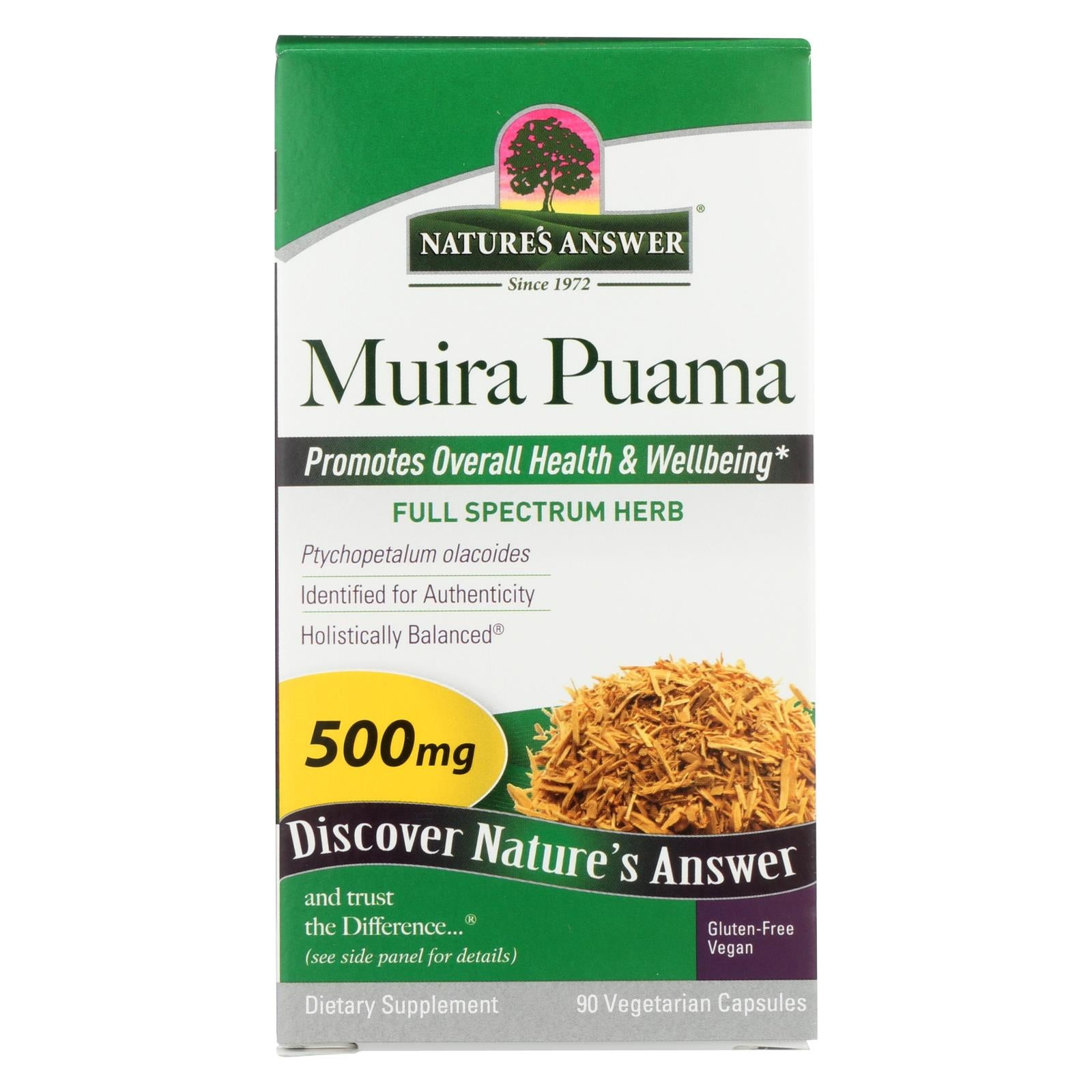 Nature's Answer - Muira-puama Bark 500mg - 1 Each - 90 CAP