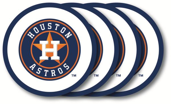 Houston Astros Coaster Set - 4 Pack - Special Order - Duck House