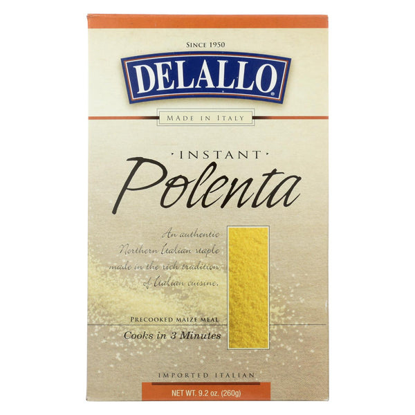 Delallo Instant Polenta  - Case of 12 - 9.2 OZ