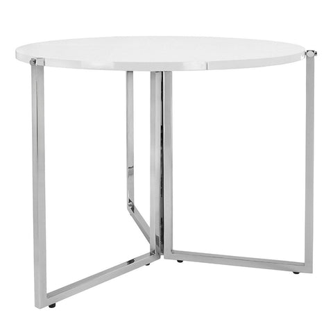 Home Roots - 35.5'' X 35.5'' X 29.5'' Radiant White Circular Folding Table