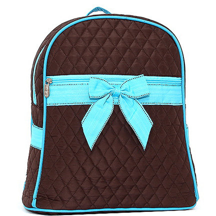 Quilted Mini Backpack With Convertible Shoulder Straps & Removable Bow