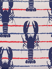 Mulit Color Lobster Print Vinyl Clutch Wallet Bag Accessory