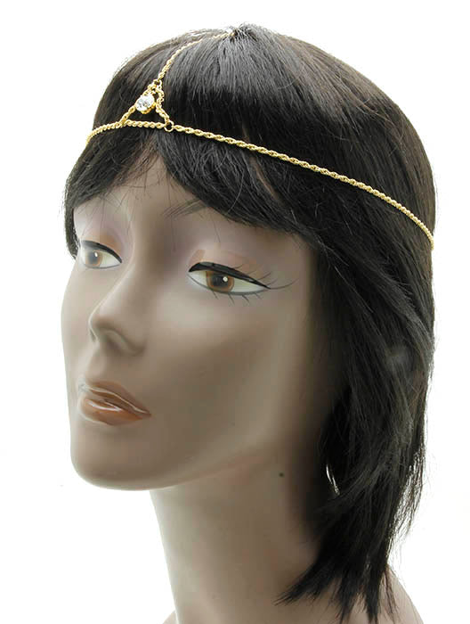 Gold Layered Chain Headband Hair Accessory