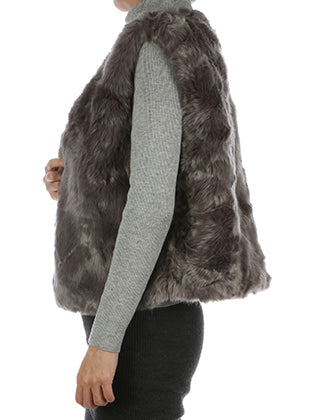 Gray Russian Style Soft Fur Vest Image#2