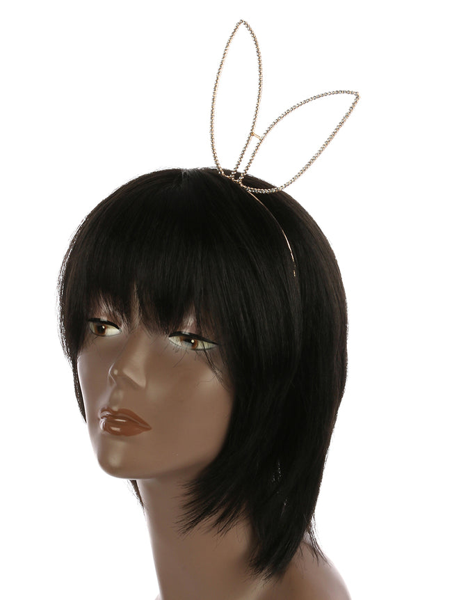 Clear Bunny Ears Metal Headband Hair Accessory