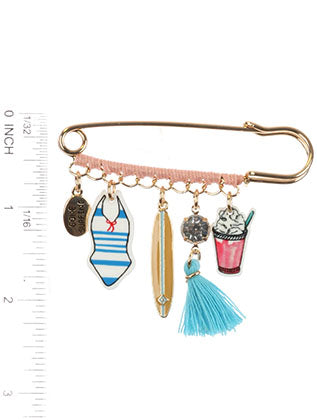 Mulit Color Surflife Charm Pin And Brooch Image#2