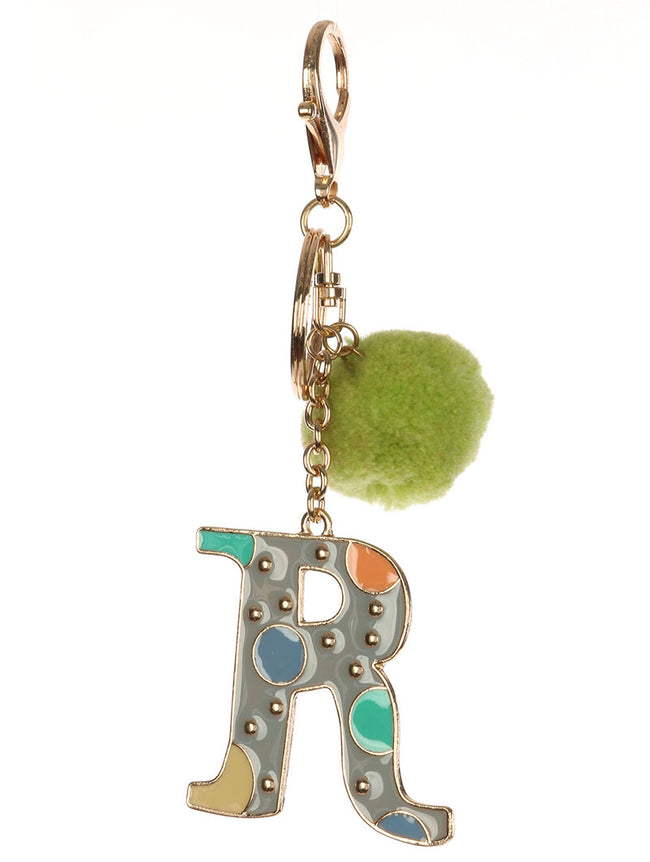 Mulit Color Alphabet Bag Accessory Key Chain