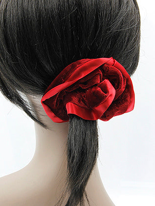 Red Velvet Finish Scrunchie Hair Accessory Image#2