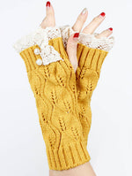 Yellow Laced Top Hand Wrist Warmer General Merchandise
