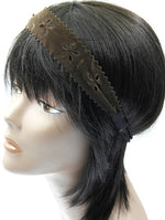 Brown Cut Out Floral Pattern Head Band Hair Accessory