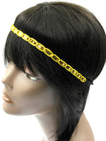 Yellow Sequin Head Band Hair Accessory