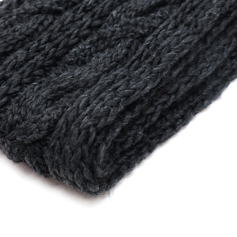Chunky Hand-Knit Cable Scarf