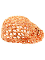 Orange Crocheted Beret Hat And Cap