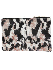 Mulit Color Animal Print Vinyl Clutch Bag Accessory