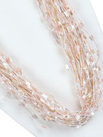 Mulit Color Multi Strand Yarn Fashion Necklace - HAF249010P8MLT