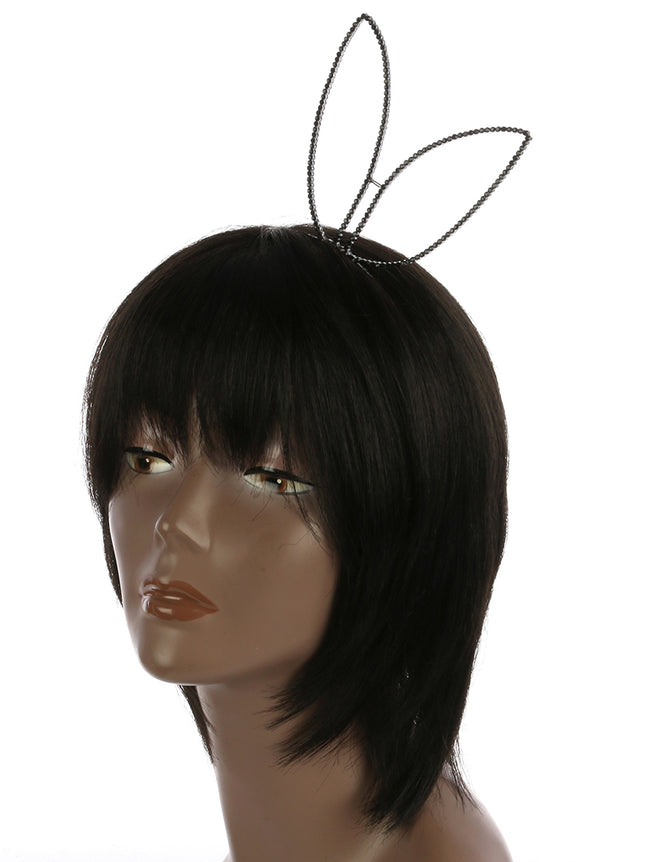 Black Bunny Ears Metal Headband Hair Accessory