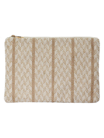 Brown Tribal Pattern Woven Clutch Bag Accessory