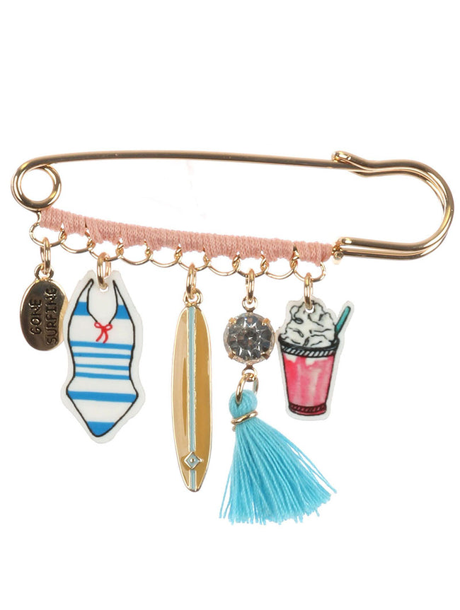 Mulit Color Surflife Charm Pin And Brooch