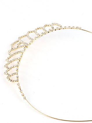 Clear Rhinestone Tiara Metal Headband Hair Accessory Image#2