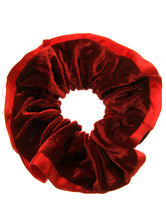 Red Velvet Finish Scrunchie Fashion Hair Accessory - AZH1023RED
